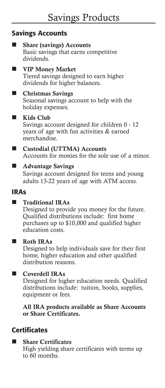 Membership Benefits Brochure Page 2