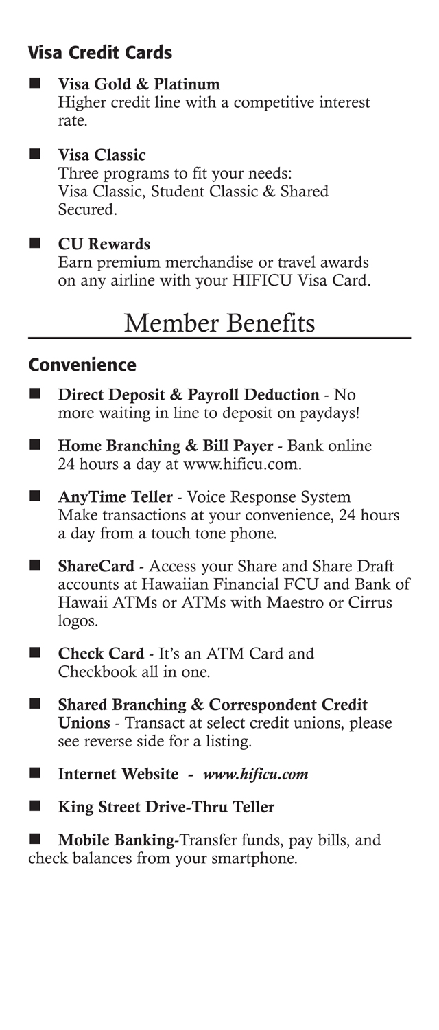 Membership Benefits Brochure Page 4