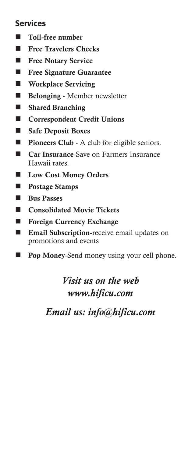Membership Benefits Brochure Page 5