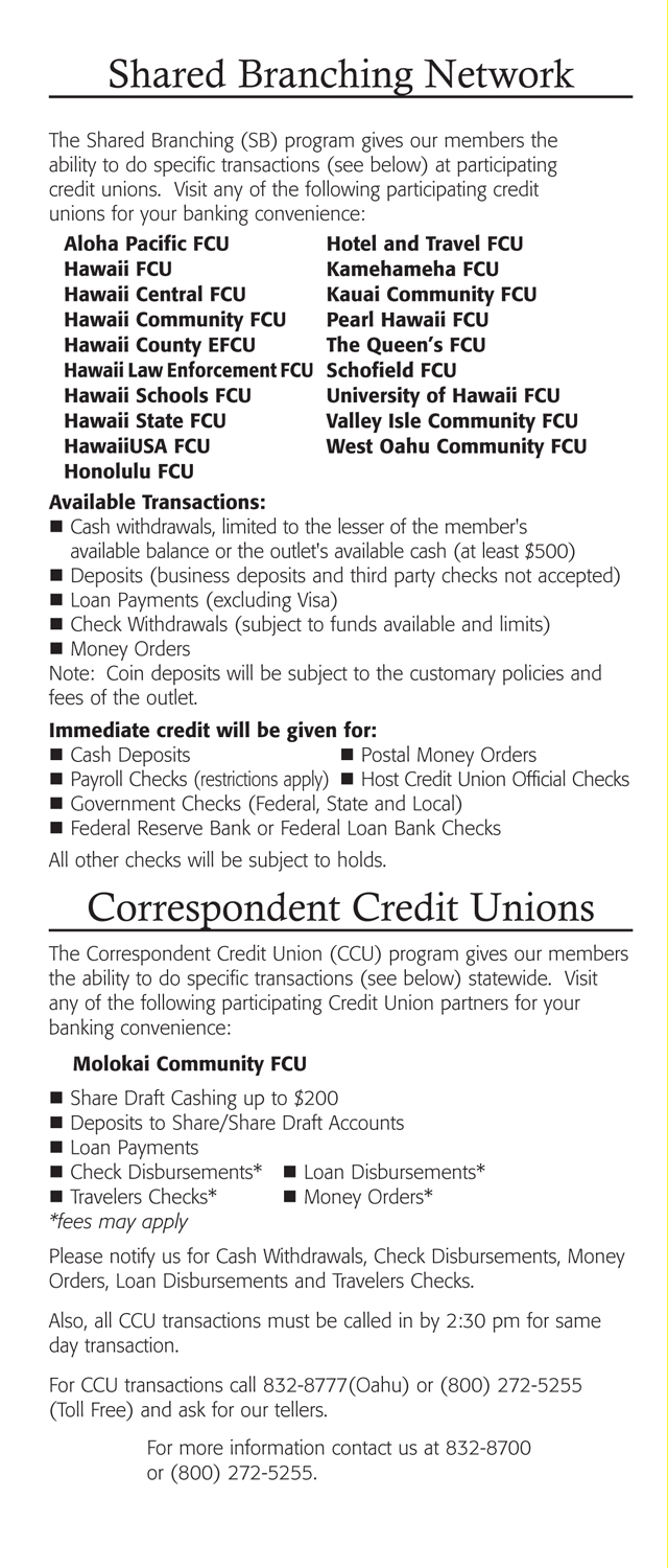Membership Benefits Brochure Page 9