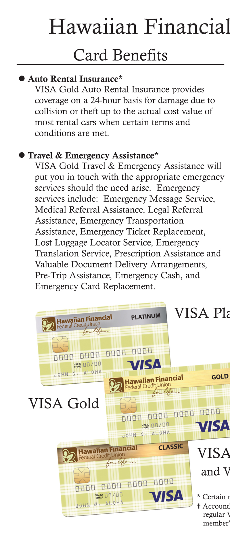 VISA Application Brochure Page 2