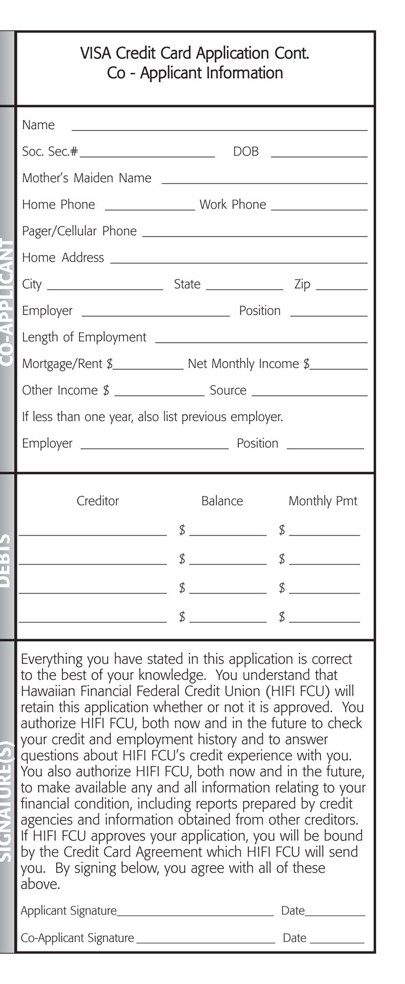 VISA Application Brochure Page 5